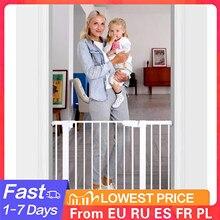 Portão de ferro de segurança para crianças, cerca da porta da escada para crianças, material amigável, de alta resistência para proteção infantil