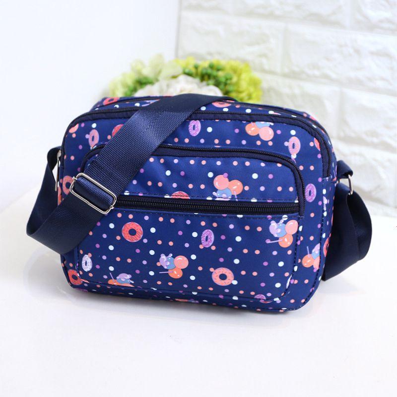 Fashion Casual Style Print Ladies Bag Portable Zipper One-Shoulder Diagona Small Bag High Quality Oxford Cloth Messenger BagZi