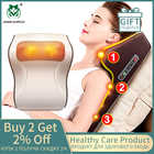 Массажная подушка 3 в 1, новейший массажер для шеи, спины, плеч, талии, тела, в подарок, облегчение боли, европейские пробки