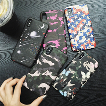 fashion Planet Couple's Phone Cover Case For Iphone X 11 pro Xs Max Xr 10 8 7 6 6s Plus se 4.7 Luxury Soft silicone Coque Fundas uyellow star wars watercolor soft tpu case for one plus 7 pro 6 6t 5 5t fashion fundas printed cover silicone luxury phone coque
