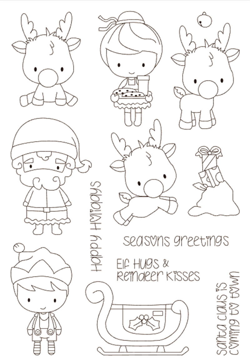 11x16 Little girl, little boy Transparent Clear Silicone Stamp Seal for DIY scrapbooking photo album Decorative clear stamp
