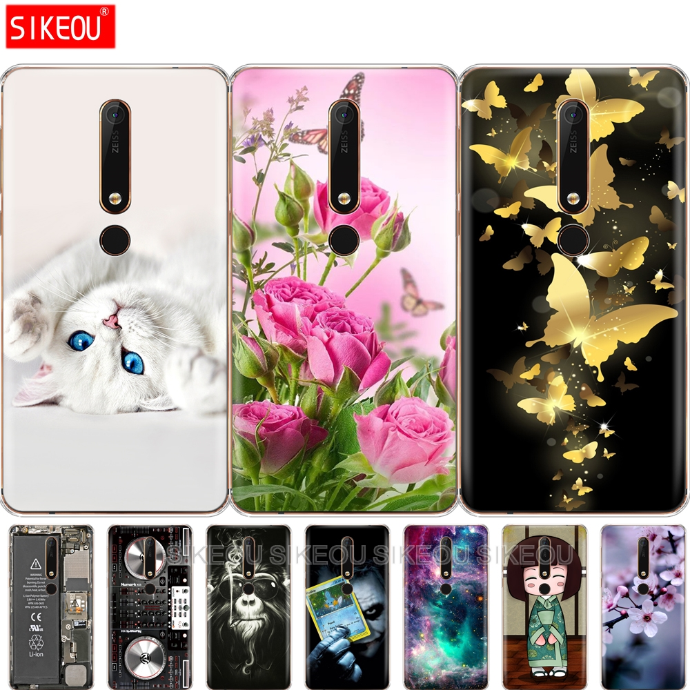Silicon case for Nokia 6 6.1 8 for nokia 6 2018 case for nokia 6.1 plus soft tpu phone back cover Coque bumper pattern
