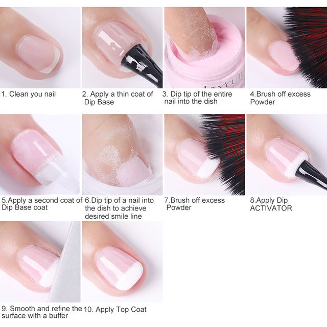 LILYCUTE Dipping French Powder Nail Glitter