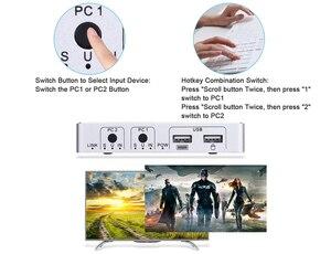 Image 5 - 2020 4K 60Hz KVM commutateur HDMI 2 ports HDMI KVM commutateur USB ordinateur KVM commutateur clavier souris commutateur boîte pour ordinateur portable, PS4,Xbox