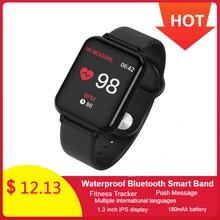 IP67 B57 Smart Watch Bracelet Blood Pressure Fitness Tracker Heart Rate Waterproof Bluetooth Band Sport Wristwatch