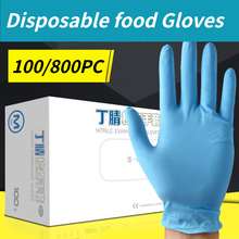 Disposable Gloves Nitrile Household Laboratory 100PC Free Latex for Kitchen Waterproof-Powder