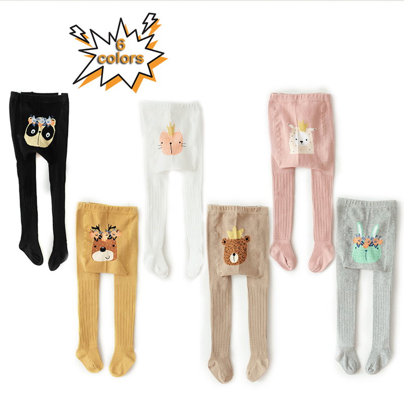 1 To 8 Years Spring Cute Deer Baby Girl Trousers High Quality Cotton Girls' Leggings Soft Knitted Pants For Children's Legging
