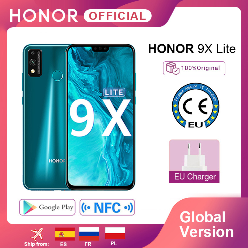 Global Version Honor 9X Lite Smartphone 4G 128G 48MP Camera Kirin 710 6.5'' Mobile Phone Android P GPU Turbo 3.0 NFC Cellphones  - AliExpress