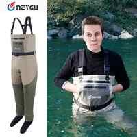 NeyGu Neopren Stocking Fuß Brust Wader für Rafting und Jagd und Marsh Schlammigen camp, Wasserdichte und Atmungsaktive Angeln Wader