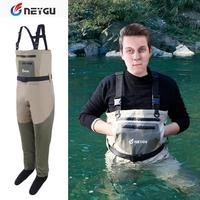 Comprar Pelele de neopreno NeyGu para el pecho de los pies para Rafting y caza y Marsh Muddy campamento, impermeable y transpirable pesca Wader