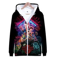 2019 hot sale Stranger things Zipper Jacket 3D Hoodies Sweatshirt Women Harajuku men Plus Size for