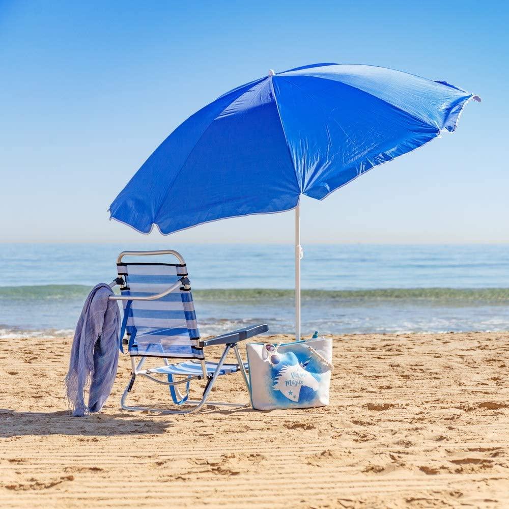 Rainbow Ombrellone spiaggia pieghevole ombrello di protezione solare esterna balcone e terrazza pieghevole ombrello 160 centimetri
