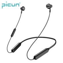 Picun X3 auriculares inalámbricos con Bluetooth V5.0, dispositivo deportivo a prueba de sudor, resistente al agua, con banda para el cuello, estéreo, diseño magnético
