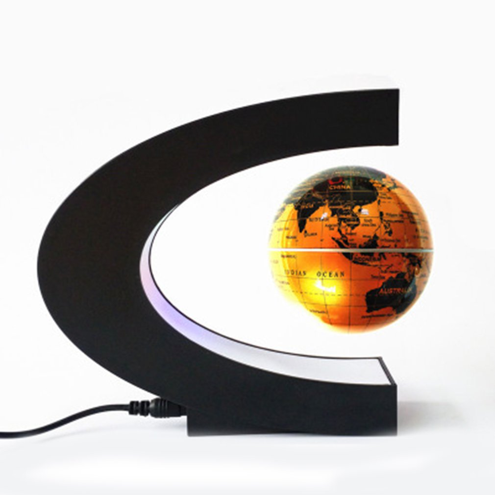 Floating World Map Ball Magnetic Levitation Globe  Lamp Cool Office Home Decoration Terrestrial Globe Lamp
