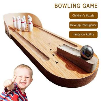 New Mini Desktop Bowling Game Toy Fun Indoor Parent-Child Interactive Table Top Toys For Family  Developmental Toy Dropshipping shark bite game funny toys desktop fishing toys kids family interactive toys board game