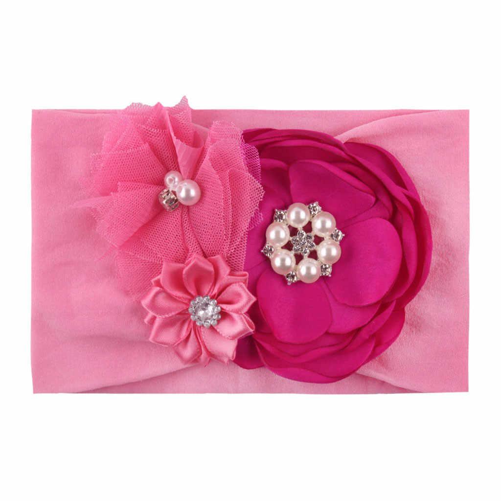 Accesorios para el cabello de bebé con cinta de cabello con nudo Floral sólido para bebés y niños pequeños # C