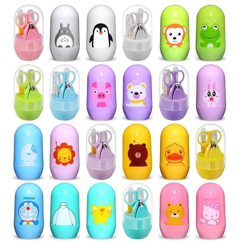 4 шт. детский набор для ухода за ногтями, Детские комплекты для здравоохранения, ножницы для стрижки пальцев, машинка для стрижки ногтей, мультяшная коробка для хранения животных для путешествий|Уход за ногтями|   | АлиЭкспресс