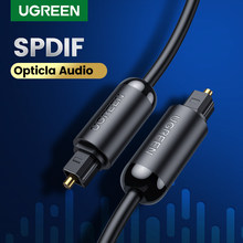 Ugreen光オーディオケーブルデジタルtoslinkケーブル光ファイバコードホームシアター用サウンドバーテレビPS4 xbox spdifオーディオケーブル
