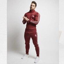 Mens Streetwear Hip Hop Male Sweatshirt Sweatpants Suit 2Pcs splice streetwear Jackets Men Zipper pocket Print Jacket