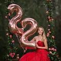 16 30 40 дюймов фольгированные шары на день рождения, воздушные гелиевые цифры, шары с днем рождения, украшения детский душ, Балон, шары