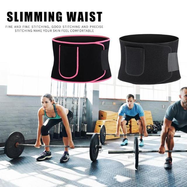 Adjustable Pocket Fitness Waist Belt Neoprene Weight Loss Slimming Sweat Waistband Exercise Belly Body Beauty Waist Support 5