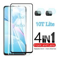 4 In 1 für Xiaomi Mi 10T Lite 5g Gehärtetem Glas für Xiaomi 10TLite 5G Bildschirm schutz Kamera Objektiv Schutz Glas M2007J17G