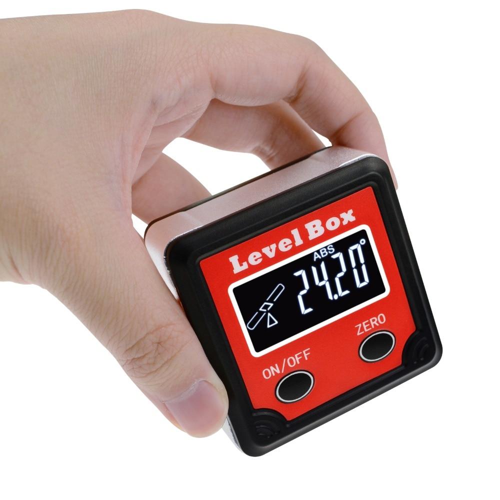 Goniometer Digital Level Angle Finder Bevel Box Measuring Tool 360° Gauge Ruler Inclinometer Protractor Tilt Direc Indicator|Protractors| |  - title=