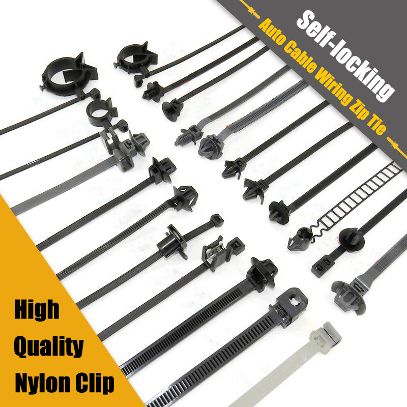 Self-locking Cable Ties for Toyota Honda Mazda Car Chassis Wire Harness Retainer Clip Nylon Zip Tie Push Mounting Auto Fasteners(China)
