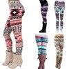 2020 New Women's Autumn Leggings Girl Winter Legging Bottoms Snowflake Christmas Deer Print Leggings Women Clothing Jeggings 1