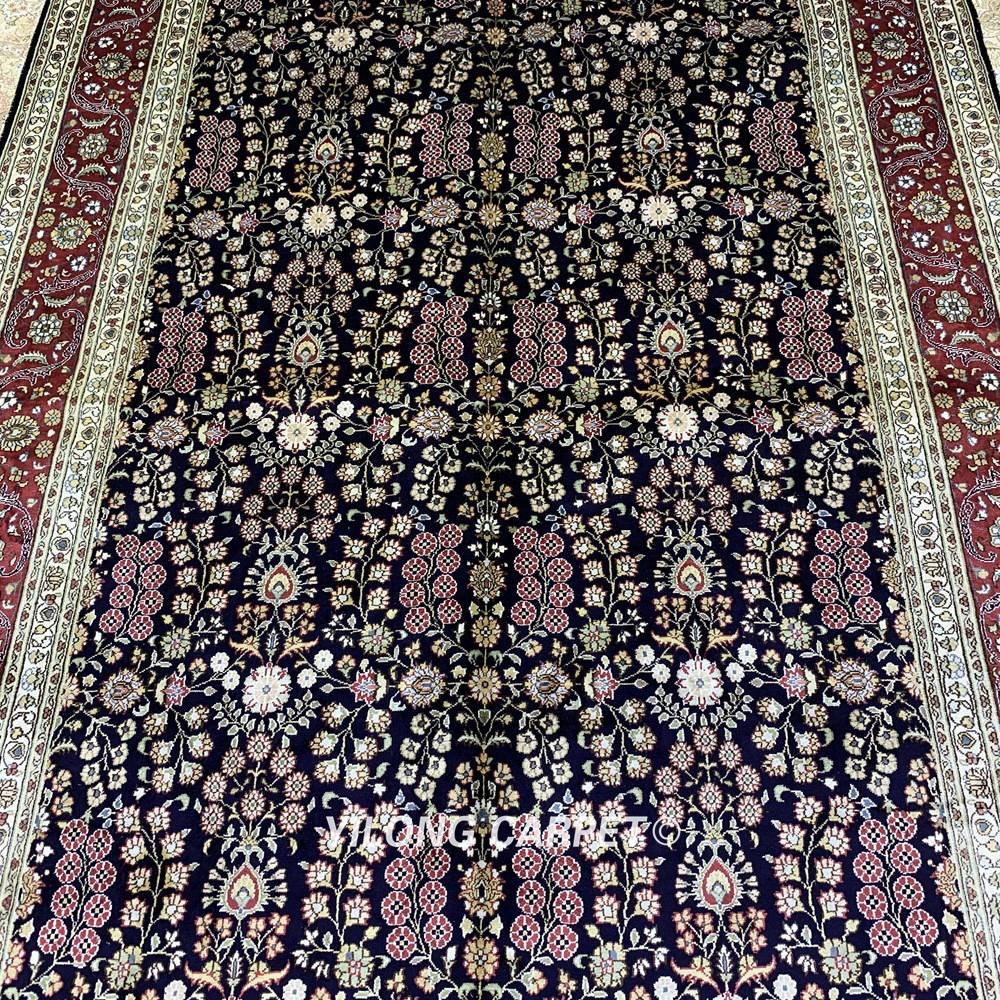 Yilong 5.5'x8 antik buatan tangan karpet, Tangan diikat diskon karpet - Tekstil rumah - Foto 4