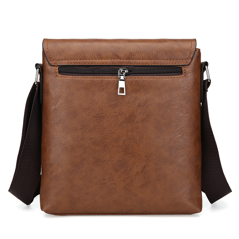 Fashion Men's Handbag Shoulder Bag Vintage Trends PU Leather Retro Messenger Bag Stylish Casual Male Crossbody Shoulder Bag 2