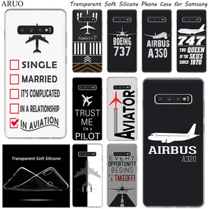 Airplane DIY Airstrip Number Soft Silicone TPU Phone Case For Samsung Galaxy S20 Ultra S10 S10e S9 S8 Plus S7 Note10 Pro Note9 8(China)