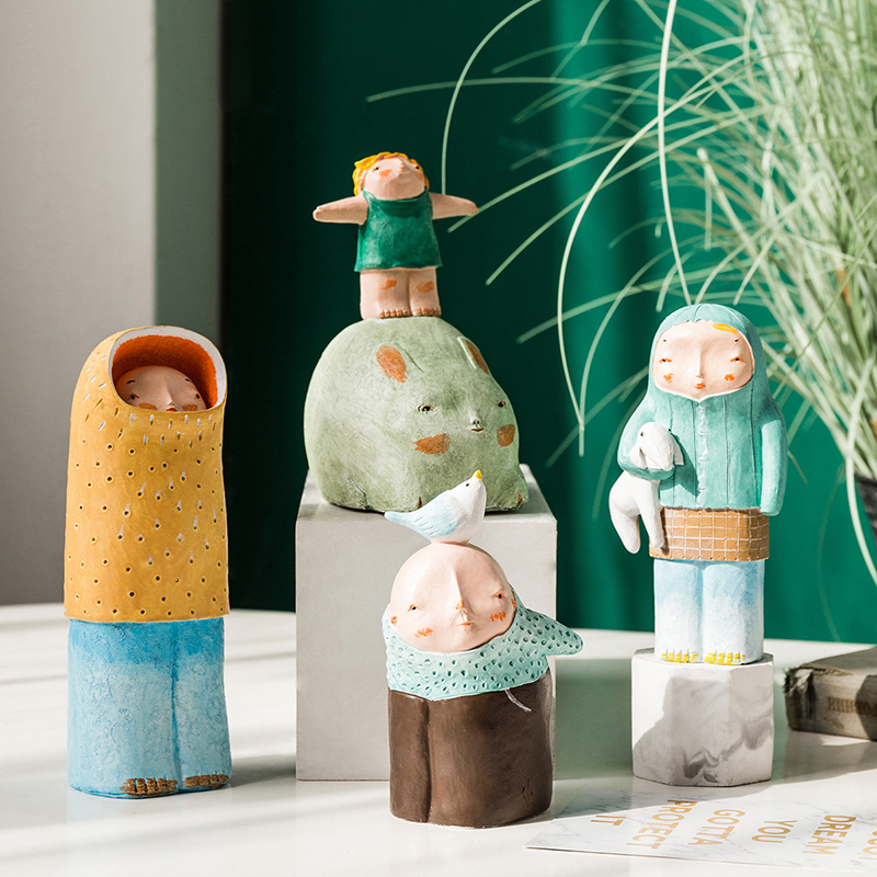 Resin Character Home Decor Children's room  Cute Desktop Crafts Gifts|Figurines & Miniatures| |  - title=