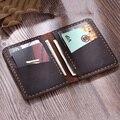 Мужской держатель для кредитных карт, кожаный кошелек ручной работы Crazy Horse для карт из натуральной кожи
