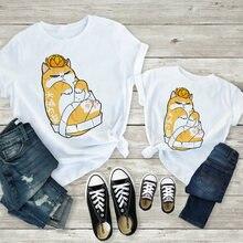 Платье для мамы и дочки; Футболки; kawaii; Рисунок оранжевого