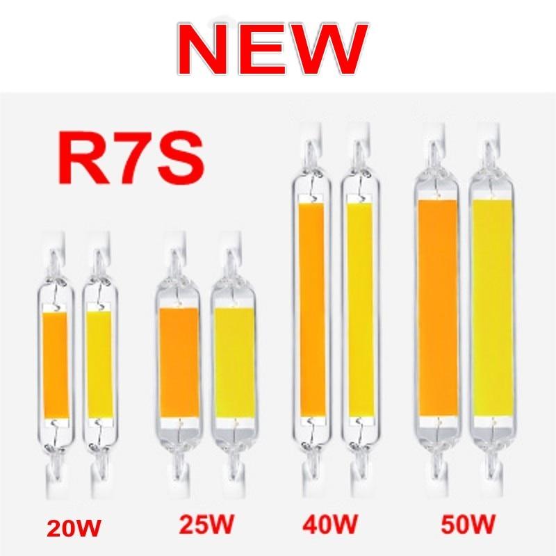 Superbright led r7s 15w 25 40 50 78mm118mm alto poderoso holofotes ac220v cob lâmpada tubo de vidro substituir lâmpada de halogênio luz