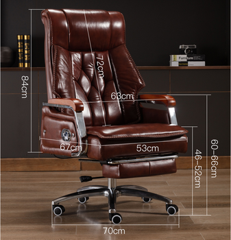 Computer chair home boss chair reclining office chair comfortable sedentary leather executive chair massage business lift swivel computer chair home boss chair leather business reclining massage executive chair solid wood swivel chair lift office seat
