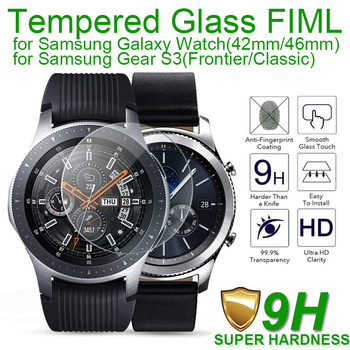 Laofurta New Tempered Glass Screen Protector For Samsung Galaxy Watch 46mm 42mm 9h Protective Glass Film fit for Samsung Gear S3 2pcs pack tempered glass screen protector watch screen protective films for samsung galaxy watch 42 46mm