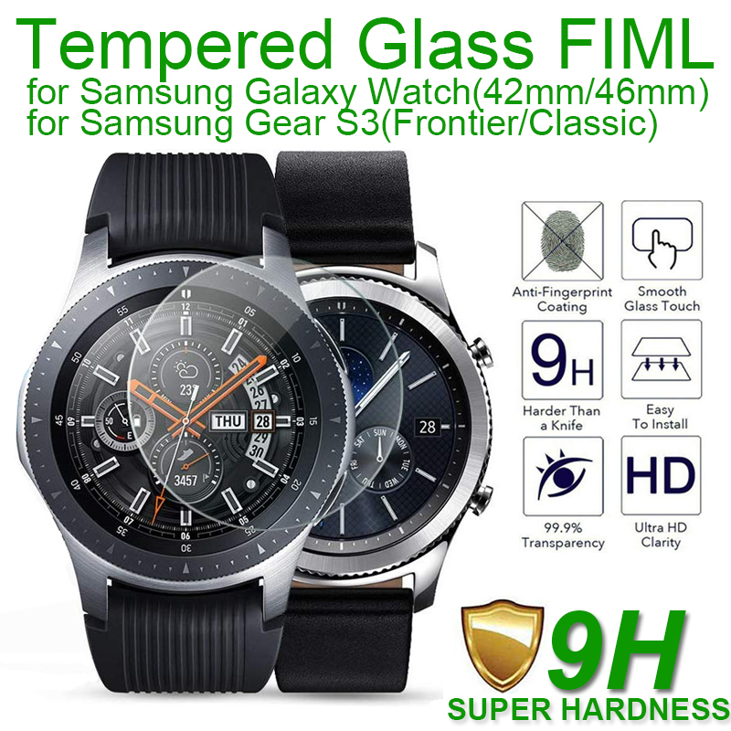 Película de vidro temperado laofurta, película protetora de vidro para samsung galaxy watch 46mm 42mm 9h para samsung gear s3