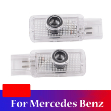 2 Pieces Car 3D LED Door Light For Mercedes Benz R ML GL Class W215 W164 X164 R300 R350 ML300 ML350 ML63 high quality chrome tail light cover for mercedes benz w164 ml class free shipping