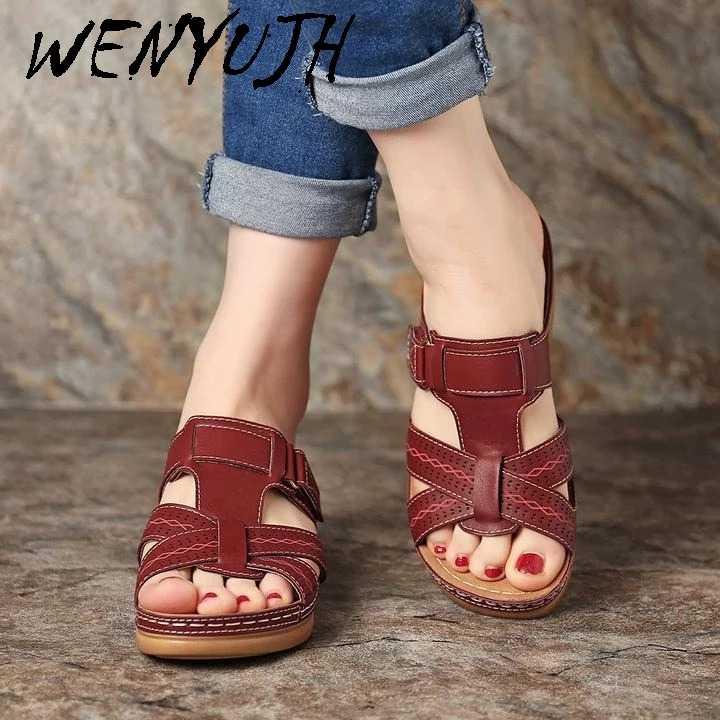 Phụ Nữ Mùa Hè Mở Ngón Chân Thoải Mái Giày Sandal Siêu Mềm Mại Cao Cấp Chỉnh Hình Giày Gót Thấp Đi Bộ Giày Sandal Thả Vận Chuyển Mũi Corrector Cusion