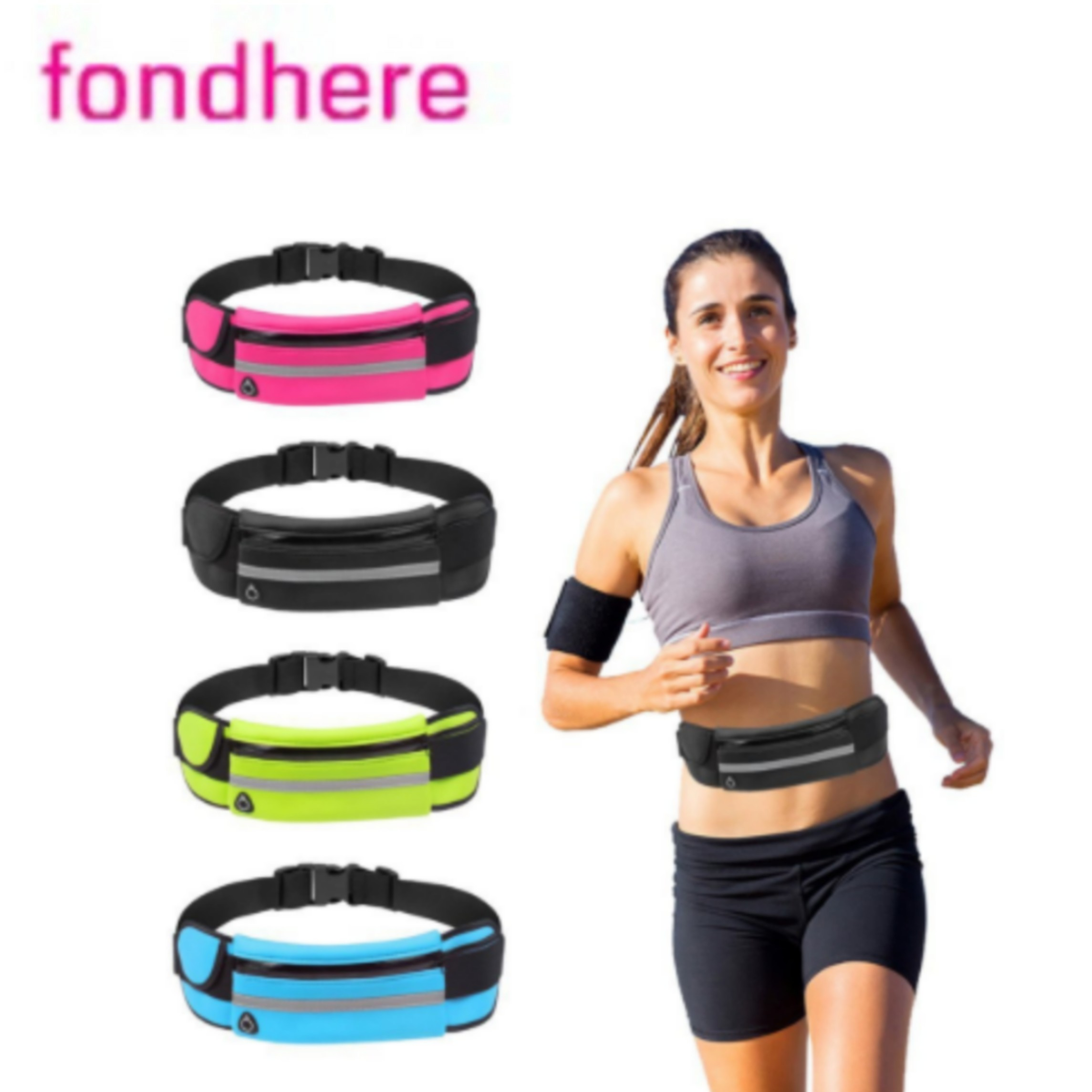 Fondhere Running Mobile Phone Pockets Fitness Female Models Male Mobile Phone Belt Marathon Running Equipment Outdoor Pouch Soft