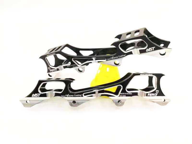 MST FIERCE Super Light Roller Skates Base Inline Skates Frame 231mm 243mm Rockered Base Banana Skating Frame FSK Slalom 1 Pair