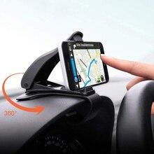 Универсальный складной держатель для телефона из АБС пластика, размером от 3,9 до 6,5 дюймов, для приборной панели автомобиля, с креплением для GPS навигации