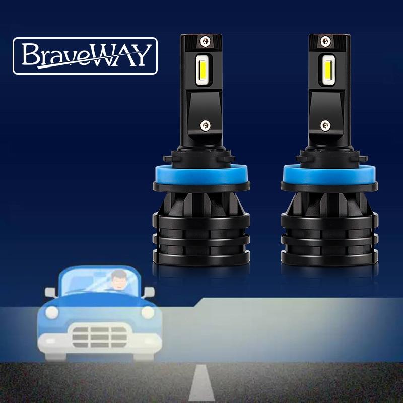 BraveWay 2020 New Arrival 16000LM H4 LED Headlights for Cars H1 H4 H7 H8 H9 H11 HB3 HB4 9005 Turbo LED Bulbs for Auto Lights 12V