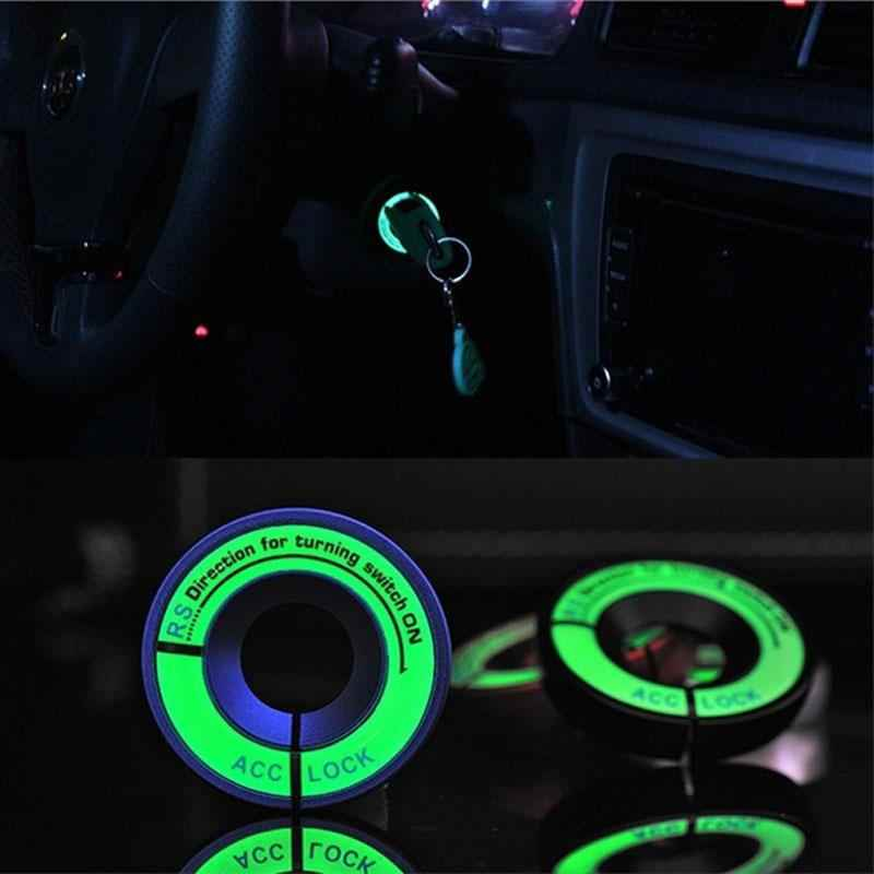 Vehemo Car Ignition Key Ring Sticker Ring Vehicle Light Decorations Car Decorations LED