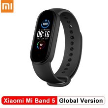 Original Xiaomi Mi Band 5 Globale Version Multi-Sprachen Intelligente Miband Bluetooth Armband Herz Rate Fitness Sport Armbänder