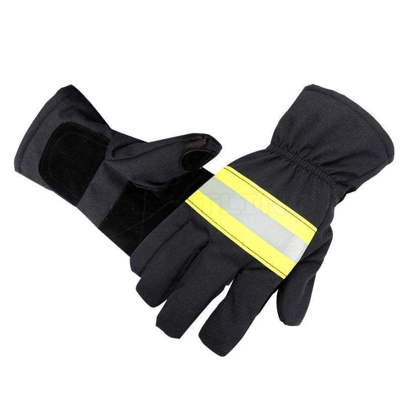 Защитные перчатки для рук пожарного, огнезащитные рабочие перчатки с отражающей лентой
