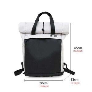 Image 4 - ファッションカジュアルバックパックユニセックストレンド女性bagpackシンプルな毎日バッグ多機能学生大容量バッグ軽量グリーン