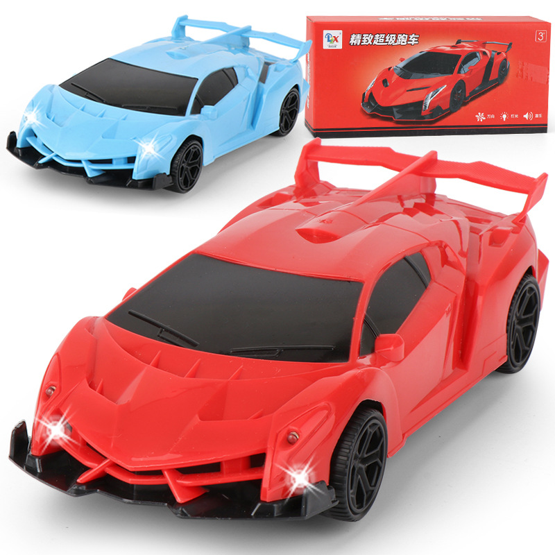 Group Children New Products Model Electric Universal Sports Car Light Included Light Music Boy Race Car Model Toy